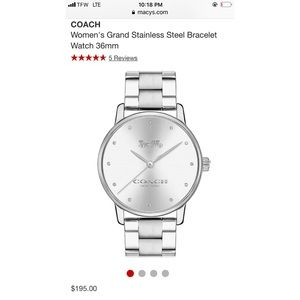 COACH Grand Authentic Stainless Steel Watch